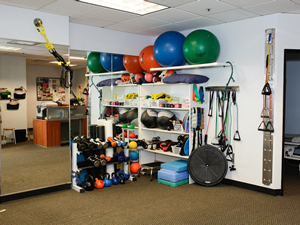 physical therapy gym area