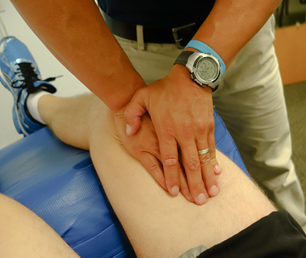 physical therapist hands-on treatment